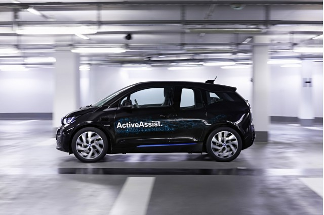 Self-parking BMW i3 ActiveAssist prototype, 2015 Consumer Electronics Show