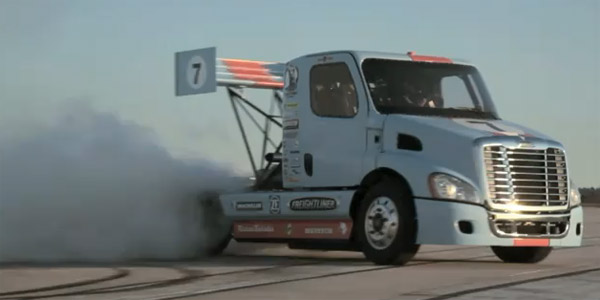 Semi truck goes drifting video