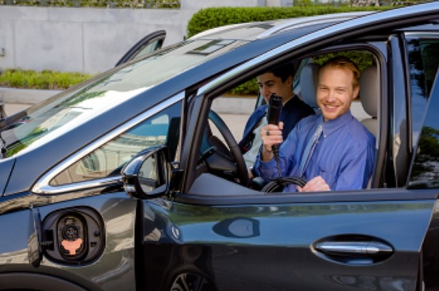 Senator Debbie Stabenow staffers drive electric vehicles