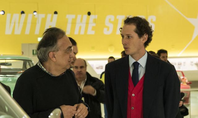 Sergio Marchionne (left) and John Elkann