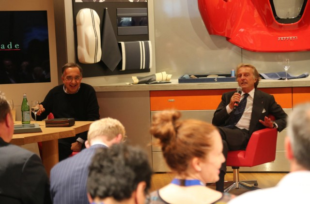 Sergio Marchionne (left) and Luca di Montezemolo