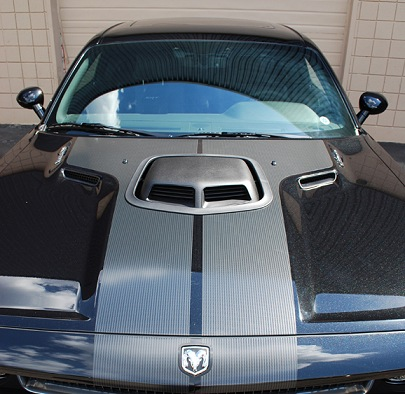 Dodge Challenger Shaker Hood System from Classic Design Concepts