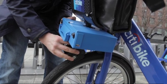 ShareRoller add-on electric motor for New York City Citibike.
