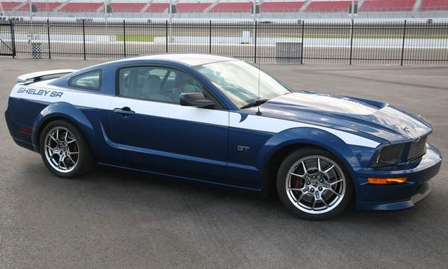 The 550hp (405kW) Shelby SR package is based on the previous 2005 to 2009 Ford Mustang GT.