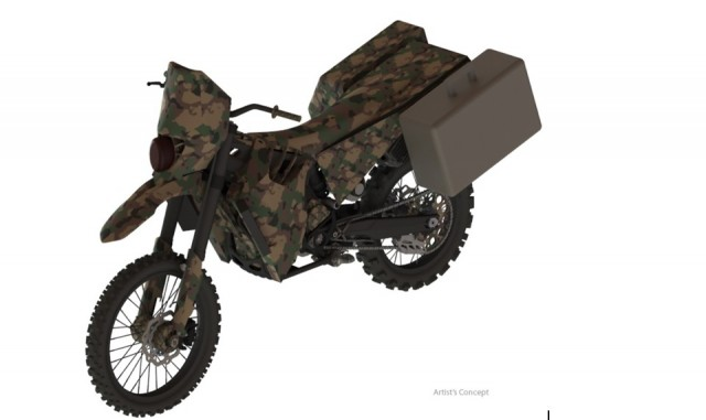 SilentHawk hybrid-electric motorcycle from Logos Technologies (artist's conception)