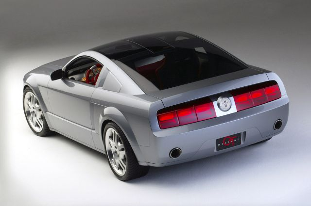 silver mustang concept