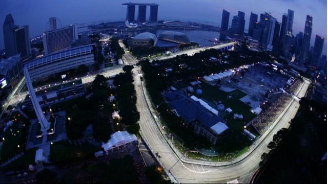 Singapore Grand Prix's Marina Bay Circuit - Image courtesy of McLaren