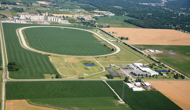 Site of Toyota's self-driving test facility at Michigan Technical Resource Park