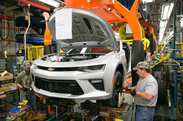 Sixth-generation Chevrolet Camaro production at Lansing Grand River Plant