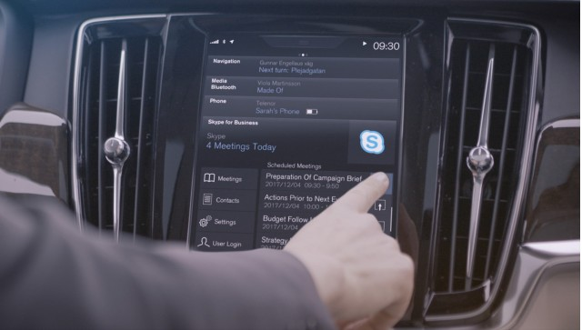 Skype for Business in Volvo's 90 series