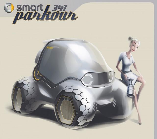 Smart 341 Parkour Concept – 2011 Los Angeles Auto Show Design Challenge