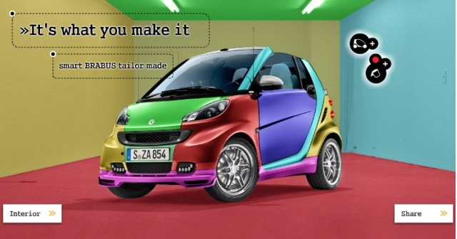 Smart Brabus online customizing website