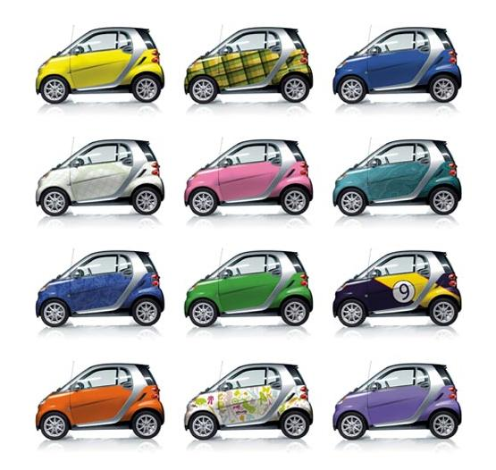Smart Expressions color and vinyl-wrap pattern options