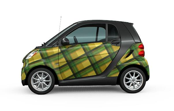 If No One Notices Your Smart Fortwo Why Not Wrap It In Plaid