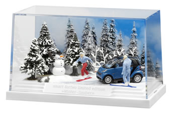 Smart winter diorama