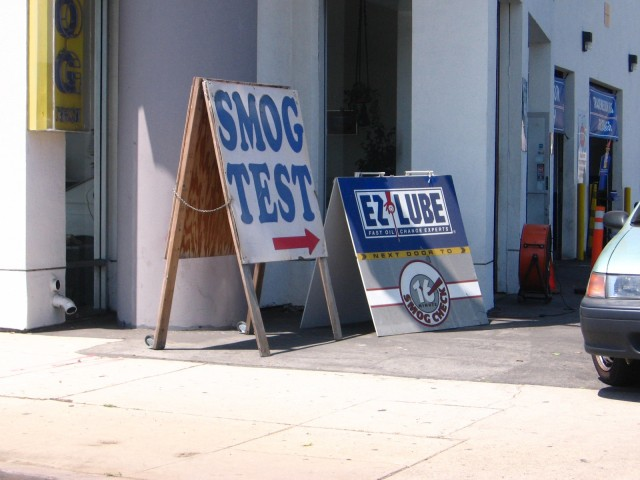 Smog test, California, courtesy Flickr user viewfrom52