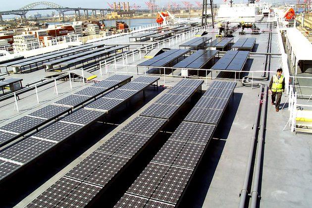 Solar Panels On Auriga Leader