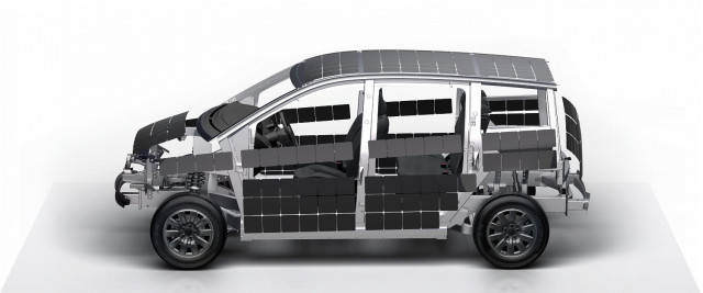 Sono Sion electric car solar panel placement
