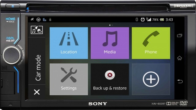Sony XAV-602BT smartphone connected in-dash AV receiver