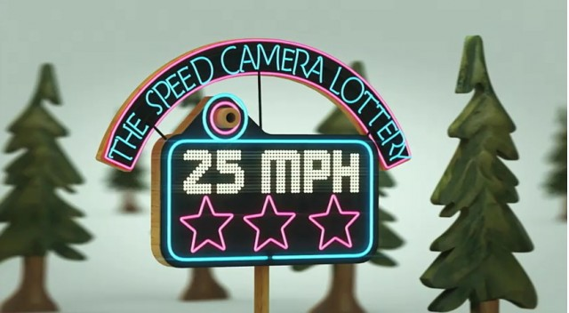 Speed Camera Lottery project for VW's Fun Theory campaign