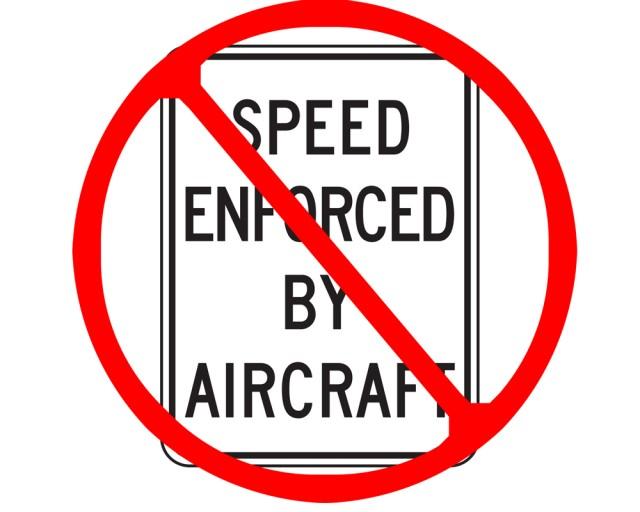 Speed enforcement by aircraft plummets