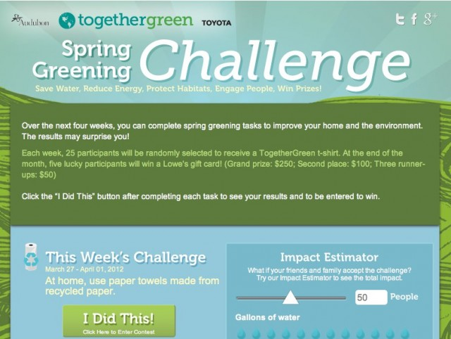 Toyota Teams Up With Audubon For Spring Green Challenge Facebook App