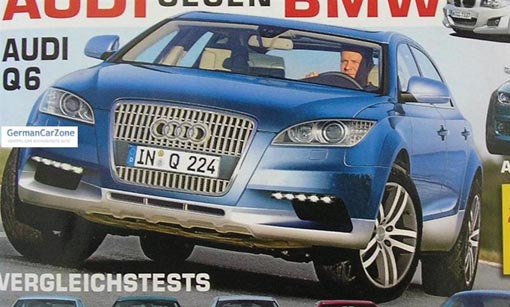 Audi Q6 rendering, 2006. By AutoZeitung.