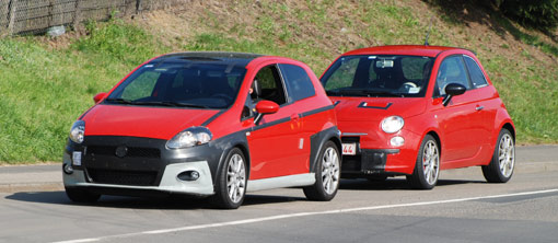 Spy Shots Fiat S Abarth Punto And 500 Hot Hatches