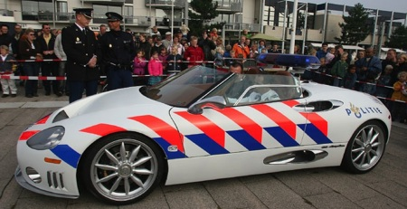 Spyker reveals police C8 Spyder