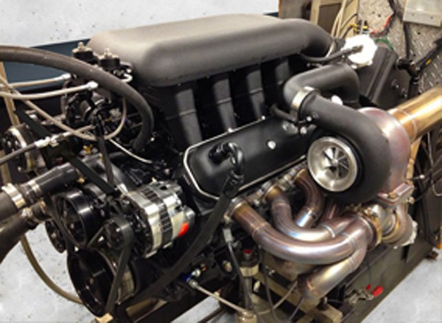 SSC Tuatara's twin-turbocharged 7.0-liter V-8 engine