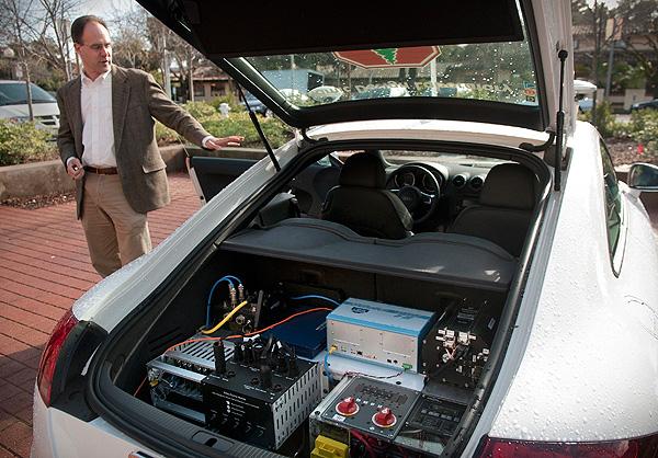 Stanford University's autonomous Pike's Peak racer, Shelley, image by L.A. Cicero