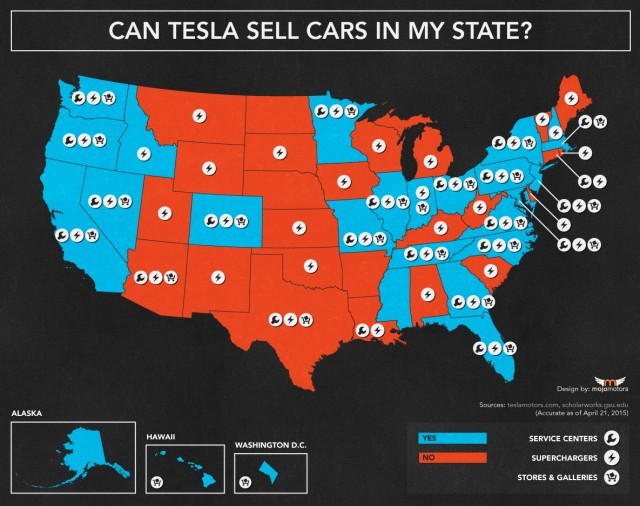 Where Can Tesla Legally Sell Cars Directly To You? State ...