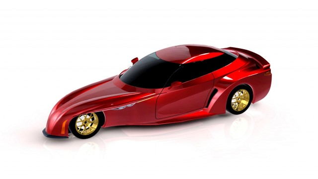 Street-legal, four-passenger DeltaWing Technologies vehicle rendering