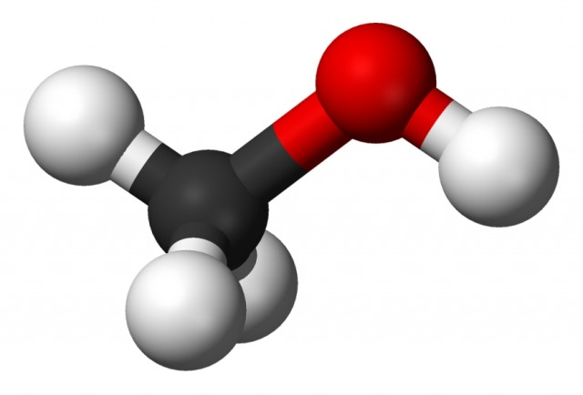 Structure of methanol. Image: Wikimedia Commons