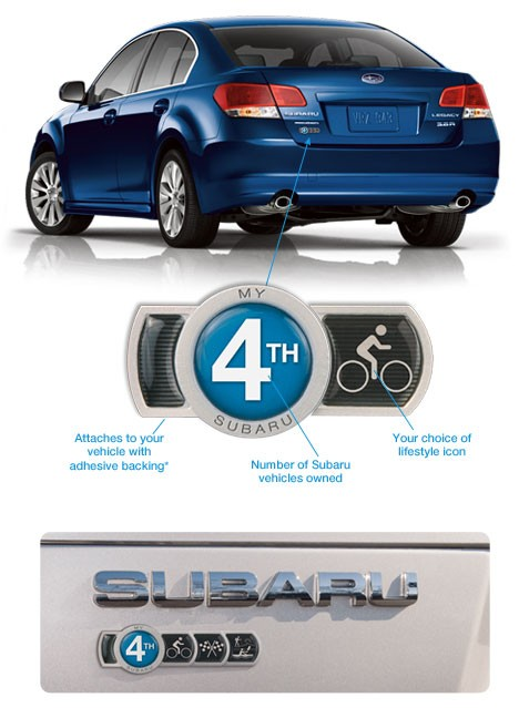 Subaru badges from BadgeOfOwnership.com