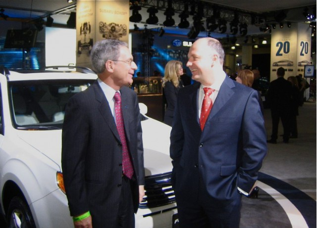 Subaru COO Tom Doll and Mike McHale