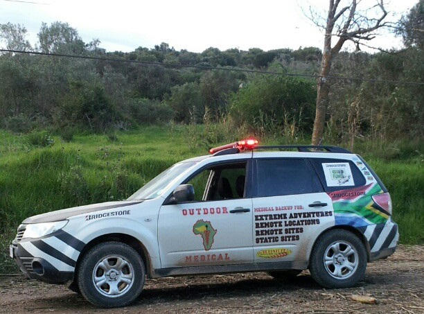 Subaru Forester used as support vehicle by Outdoor Medical in South Africa