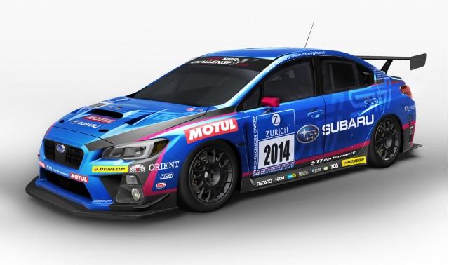 Subaru WRX STI race car for the 2014 Nürburgring 24 Hours