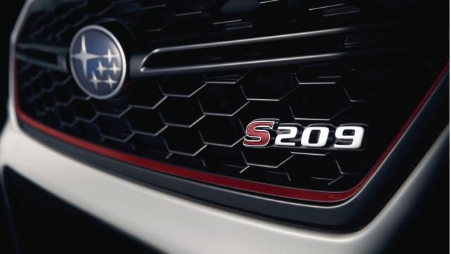 Subaru WRX STI S209 teases before the Detroit 2019 car show