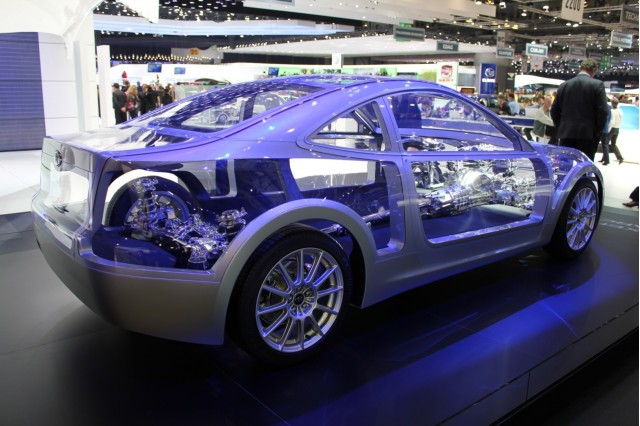 Subaru Boxer Sports Car Architecture live photos