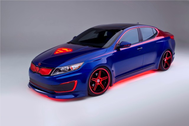 Superman-inspired Kia Optima Hybrid
