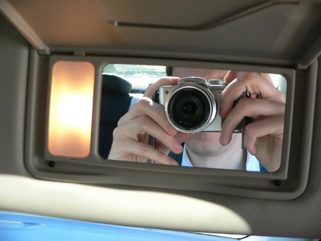 Vanity mirror, check.
