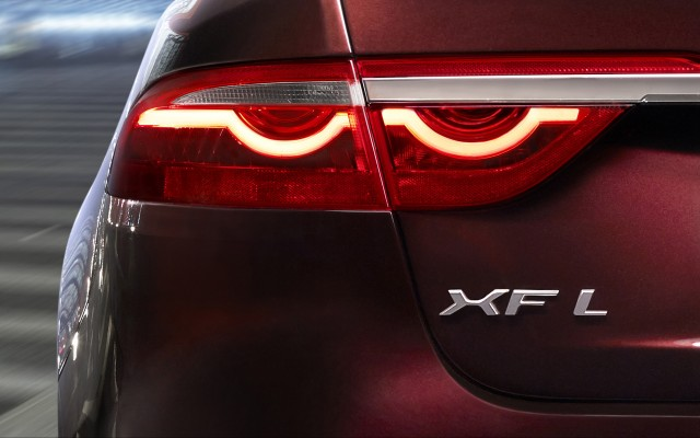 Teaser for 2016 Jaguar XFL debuting at 2016 Beijing Auto Show