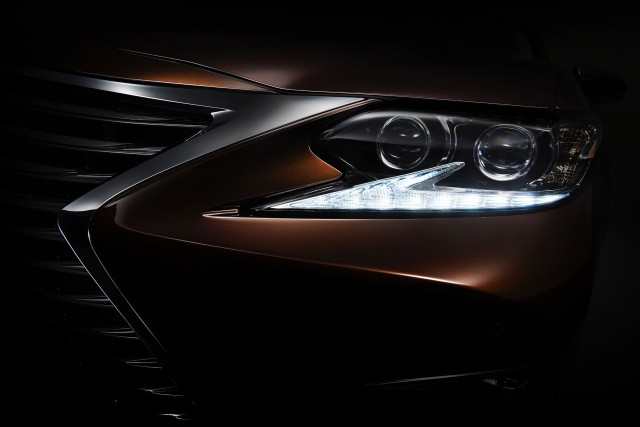 Teaser for 2016 Lexus ES debuting at 2015 Shanghai Auto Show
