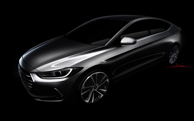 Teaser for 2017 Hyundai Elantra Sedan