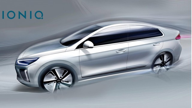 More Hyundai Ioniq Sketches Before Hybrid Electric Cars Debut