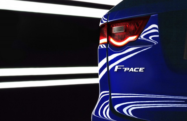 Teaser for 2017 Jaguar F-Pace
