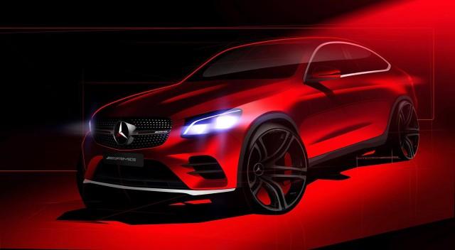 Teaser for 2017 Mercedes-AMG GLC43 Coupe