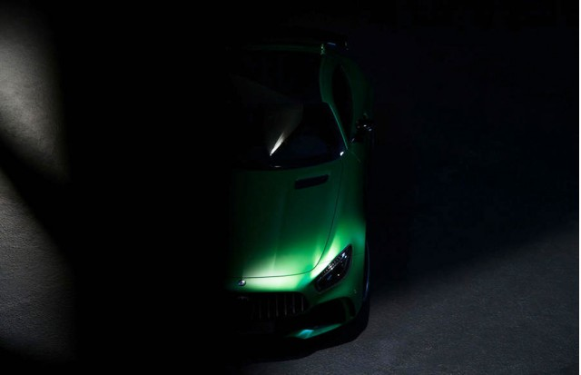 Teaser for 2017 Mercedes-AMG GT R debuting at 2016 Goodwood Festival of Speed
