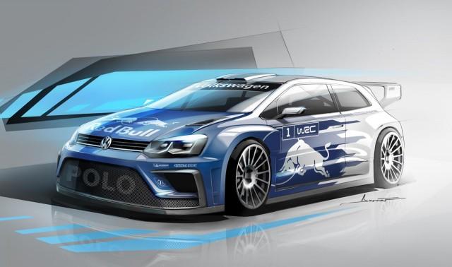 Teaser for 2017 Volkswagen Polo R WRC rally car